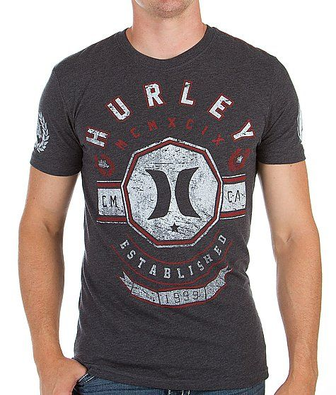 Hurley Man Up T-Shirt - Men's T-Shirts in Heather Black
