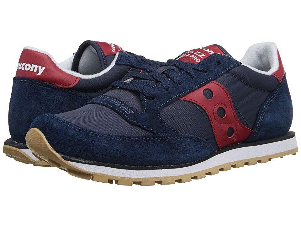 Saucony Men's Retro Sneakers: Saucony Originals Men's Jazz Low Pro Classic Retro Sneaker, NavyRed,