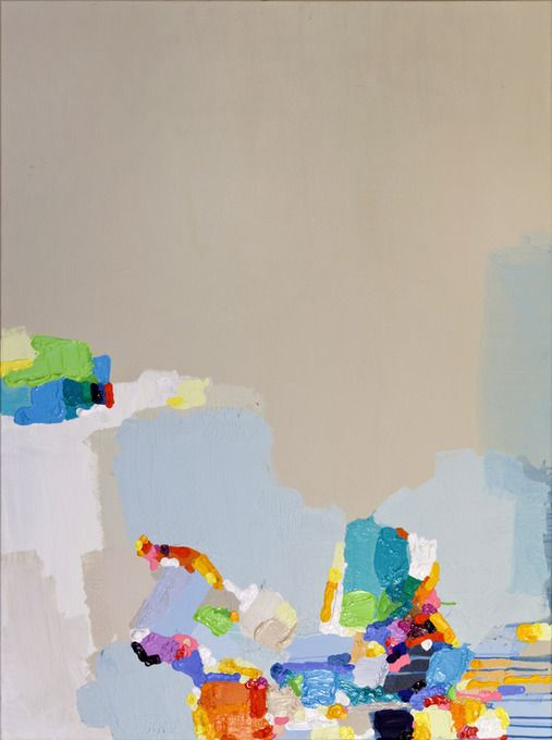 """Acrylic Painting, 2011, """"Restless"""" by Claire Desjardins"""