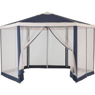 Buy Hexagonal Garden Gazebo with Mesh Panels at Argos.co.uk £89.99  sc 1 st  Pinterest & Buy Hexagonal Garden Gazebo with Mesh Panels at Argos.co.uk £89.99 ...
