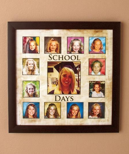 New Graduation Keepsake Frames Through The Years Wall Picture Frame