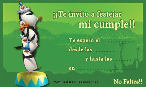 Click Aquí Para Imprimir La Invitación De Los Pinguinos De