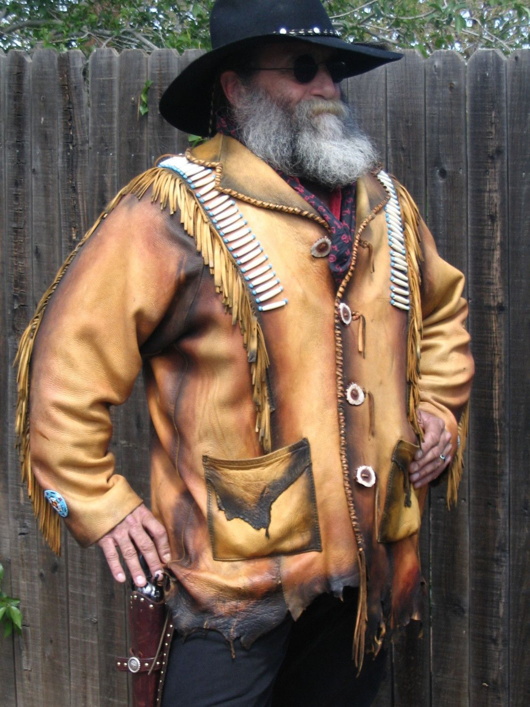 Kobler Leather Men Rugged Vest Mountain Western Rendezvous Festival NWT gift