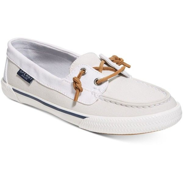 Add a casual classic to your daytime style in the grommet and lace details  and traditional canvas versatility of these Quest boat shoes from Sperry.