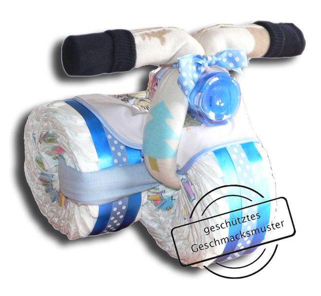 windeldreirad blau windeltorte windeltorten pinterest windeltorte geschenke zur geburt. Black Bedroom Furniture Sets. Home Design Ideas