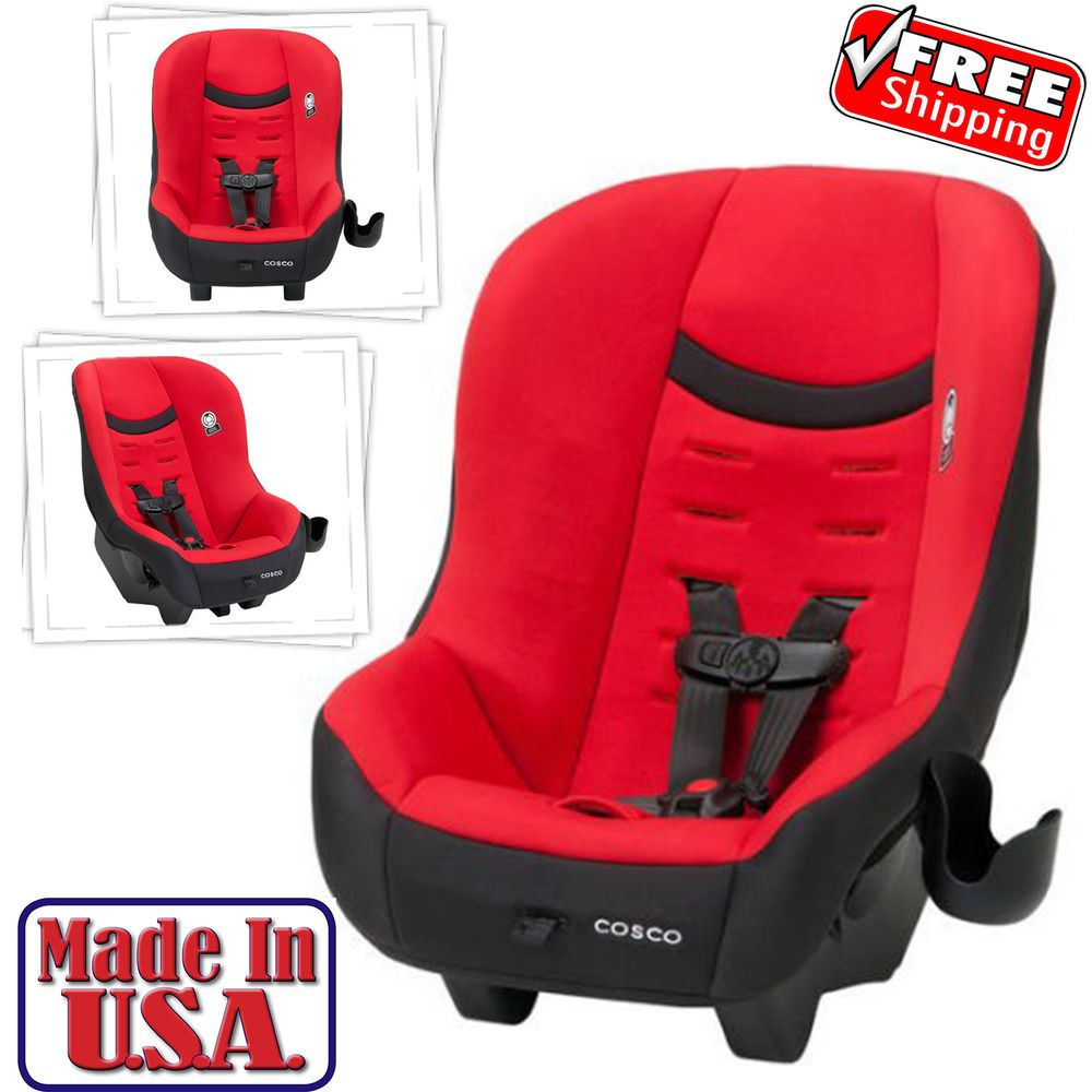 Convertible Car Seat Safety Baby Toddler Kid Infant Rear Front Face Red Cosco