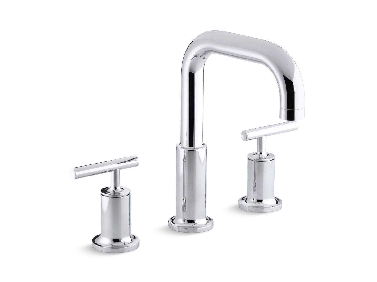 The K T14428 4 Bath Faucet Trim Includes A Gooseneck Spout And Two