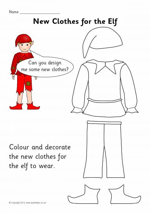 Elf Clothes Design and Colouring