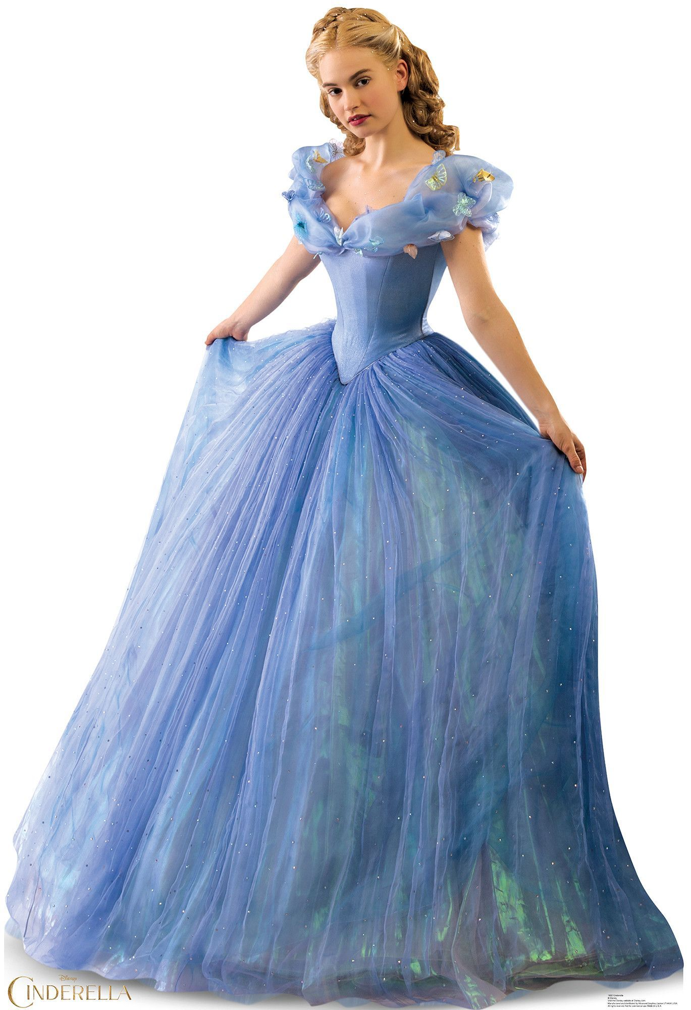 Dress up of cinderella - Features Easel Attaches To The Back To Make It Free Standing Folds