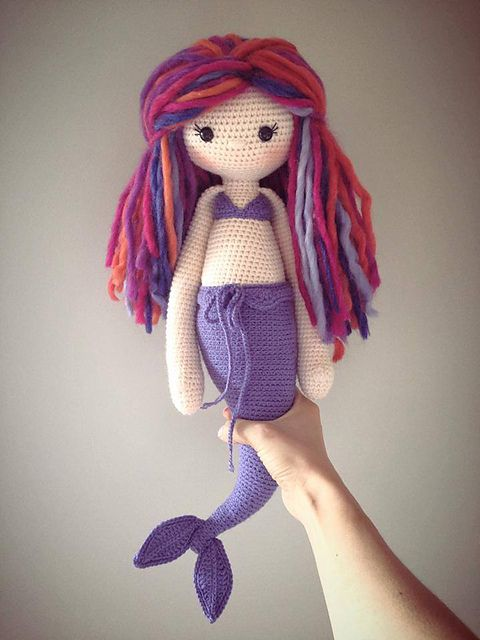 Free Knitting Pattern For Mermaid Doll : lalylala MICI the mermaid pattern by Lydia Tresselt Ravelry, Mermaid and Cr...