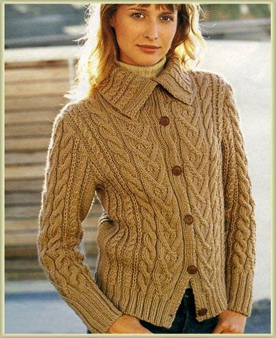 Hand Knit women\'s cardigan women\'s jacket women hand knitted dress ...