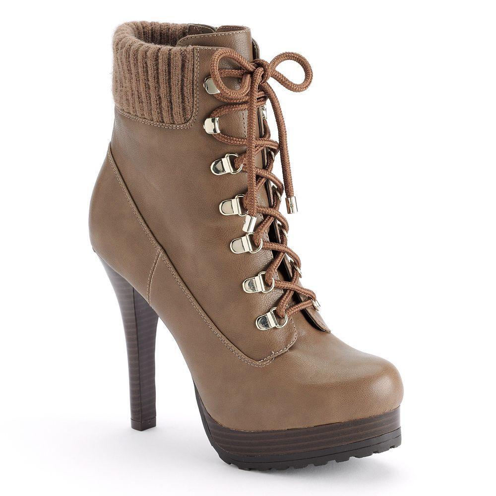 Work it in work boot-inspired style. #JenniferLopez #boots #Kohls