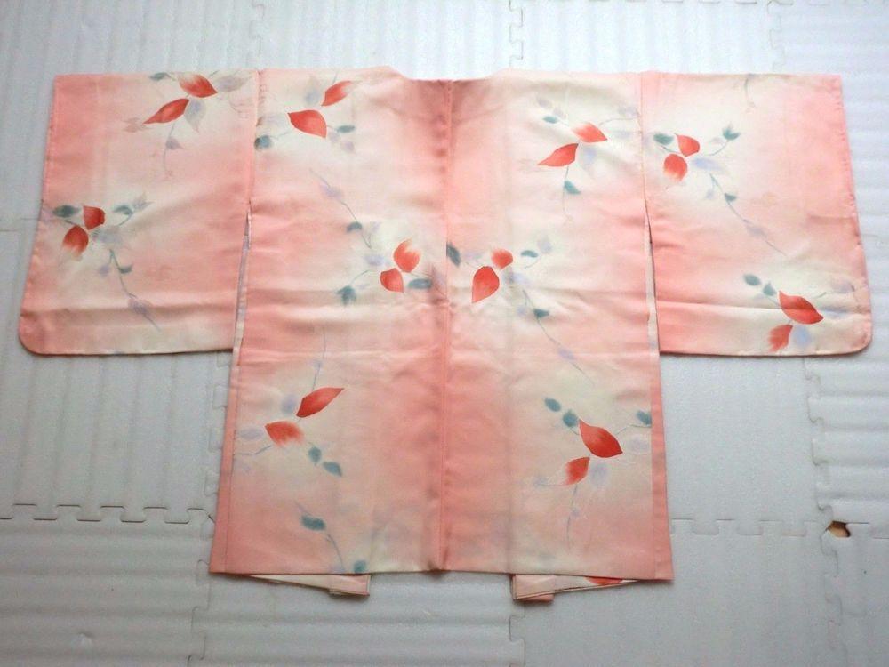 Japanese Vintage Kimono, HAORI ,SILK, Light Pink, Good condition P121525  | eBay