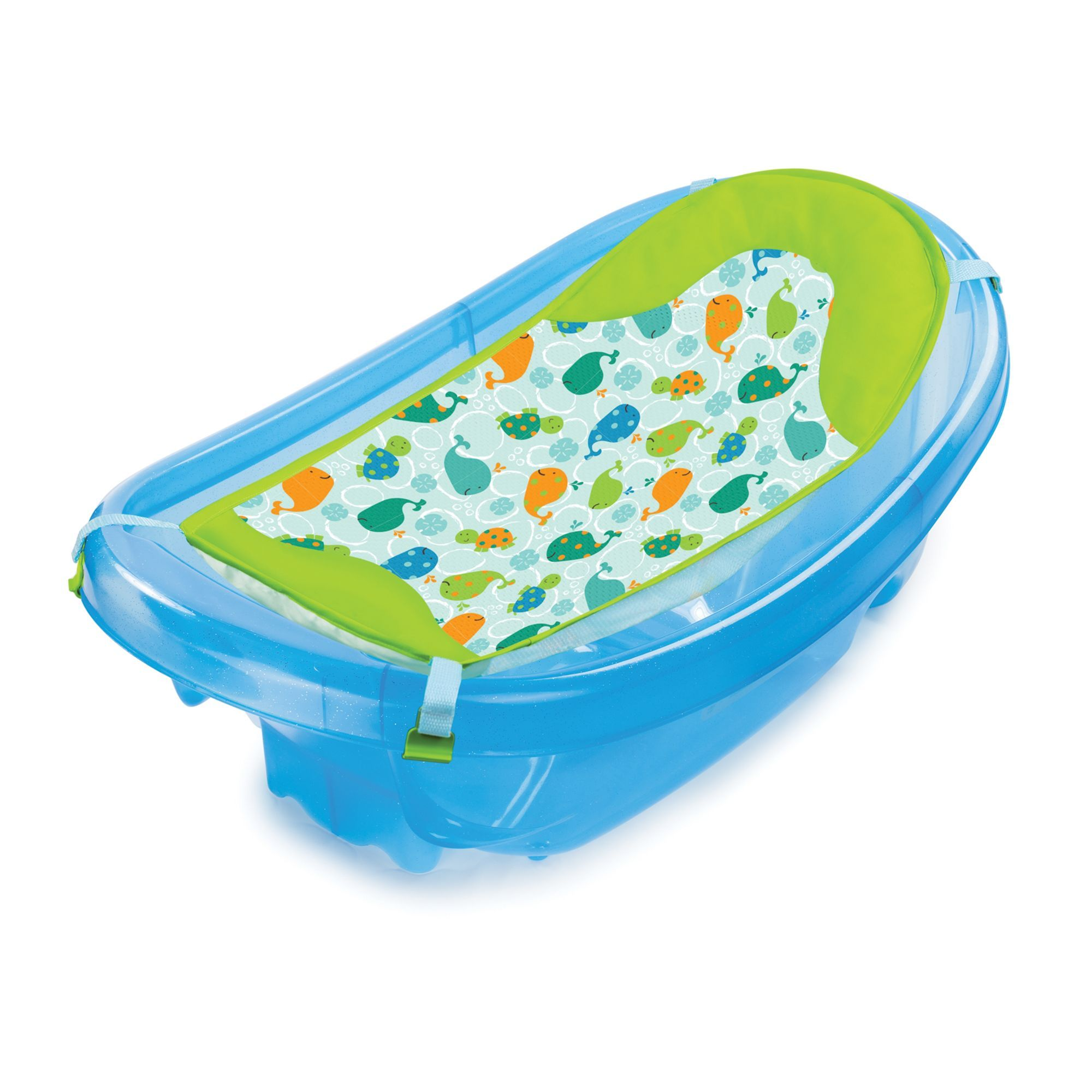 Baby Bath Chair Mothercare How To Make A Cover From Sheet Summer Infant Sparkle N Splash Tub Blue 28