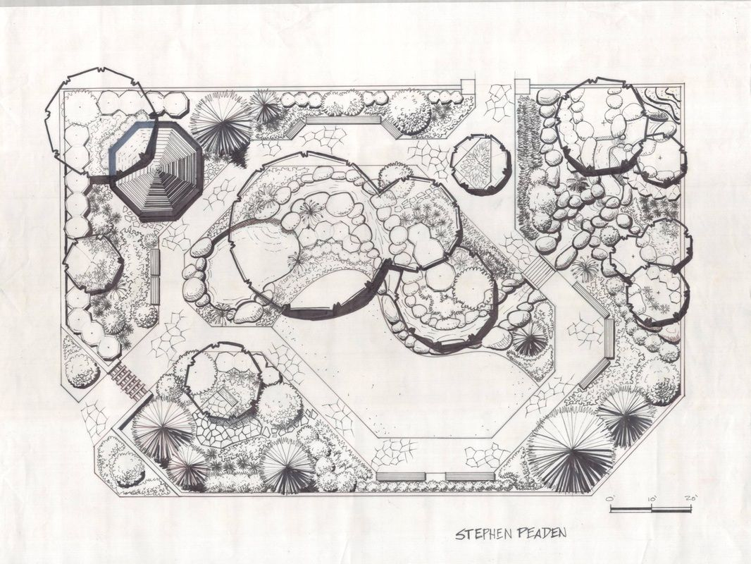 Simple Landscape Designs Drawing Kiến Truc Cảnh Quang Vườn Bản Vẽ