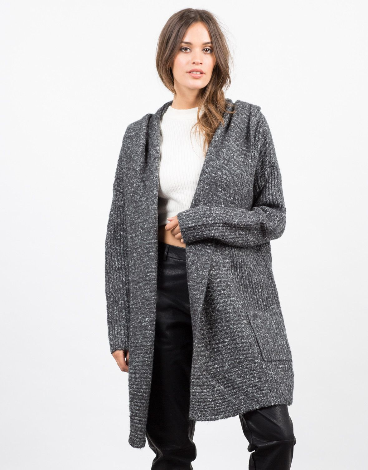 Chunky Hooded Cardigan | ML - The Art Of Sweaters & Cardigans ...