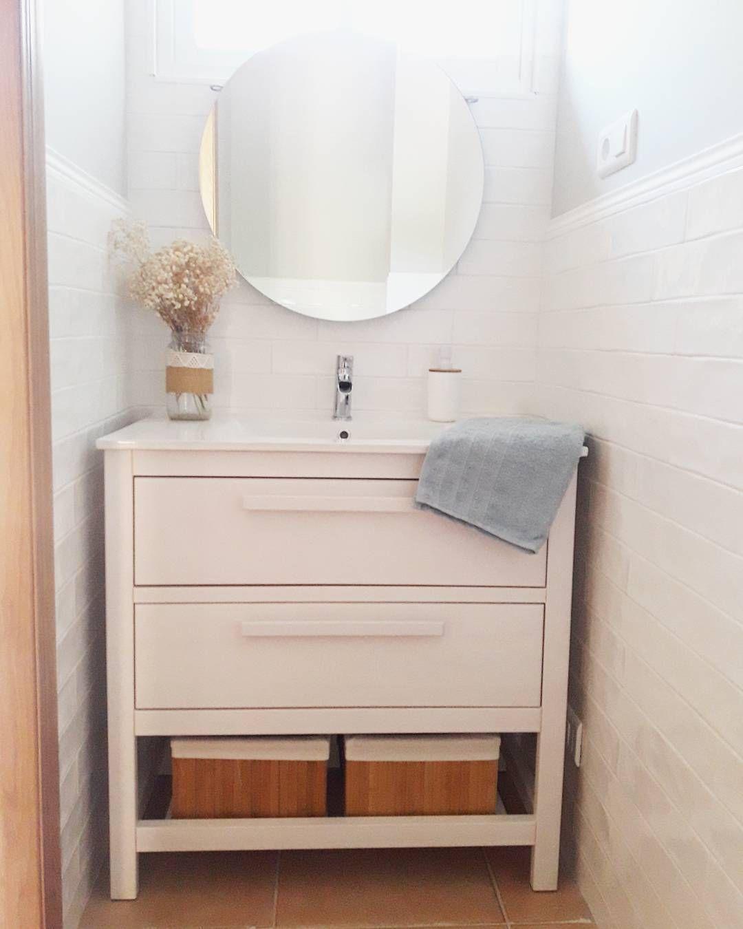 Mueble de ba o hemnes sin caj n y con otros tiradores deco diy ikea pinterest - Tiradores para muebles de bano ...