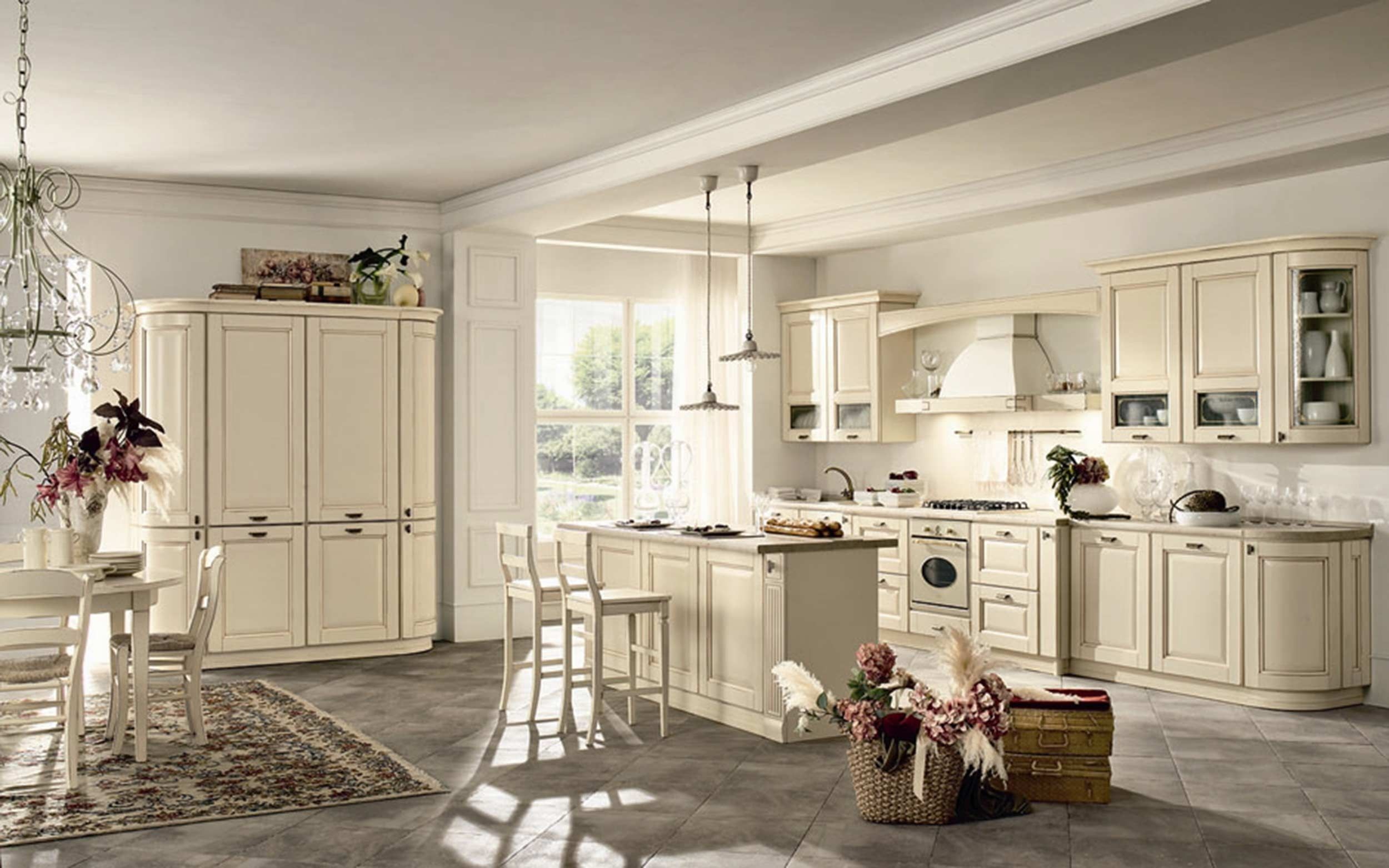Getting the Vital French Country Kitchen Décor Ideas White Kitchen ...