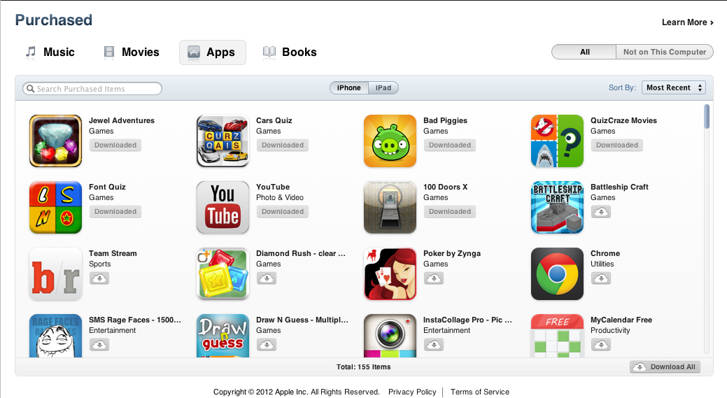 How to Download Past Purchases from AppStore, iBookstore