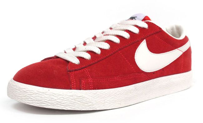 nike blazers low top red and white nike