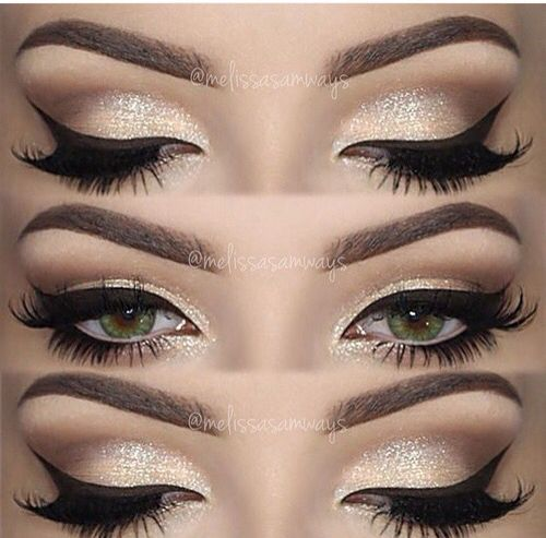 Eyes I Love The Use Of White Eyeliner And Dramatic Black Liner