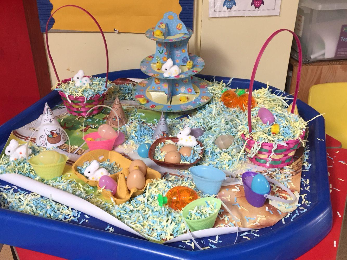 Easter Tuff Spot Nursery Activities Tuff Tray Easter