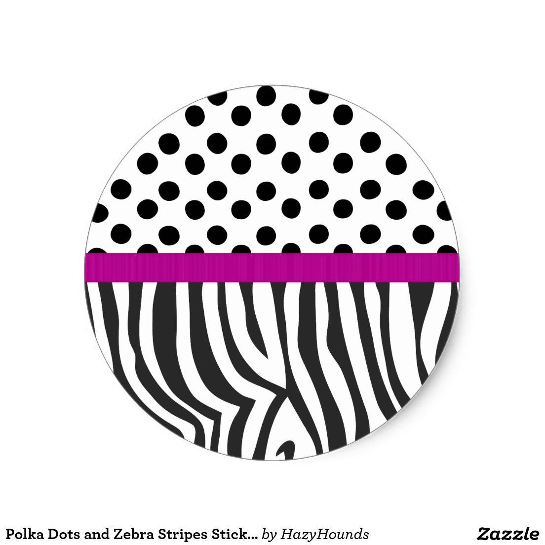Polka Dots and Zebra Stripes Sticker