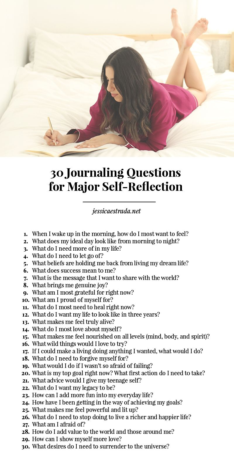 ... grow, expand, get to know yourself on a deeper level, and manifest your  biggest dreams? Try these 30 journaling questions for major self-reflection.