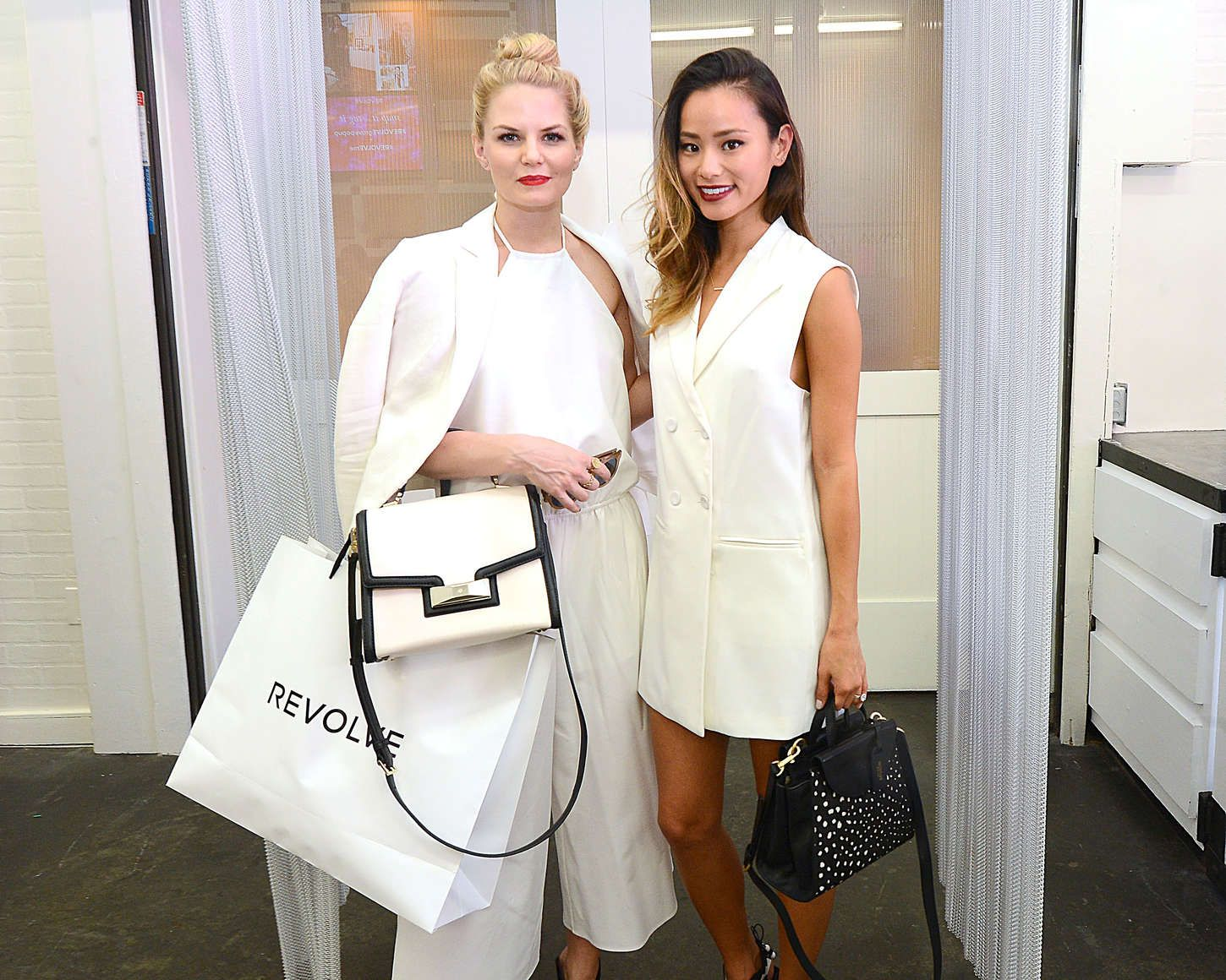 Jennifer Morrison and Jamie Chung Shopping Day at The Revolve PopUp Store on November 8, 2014