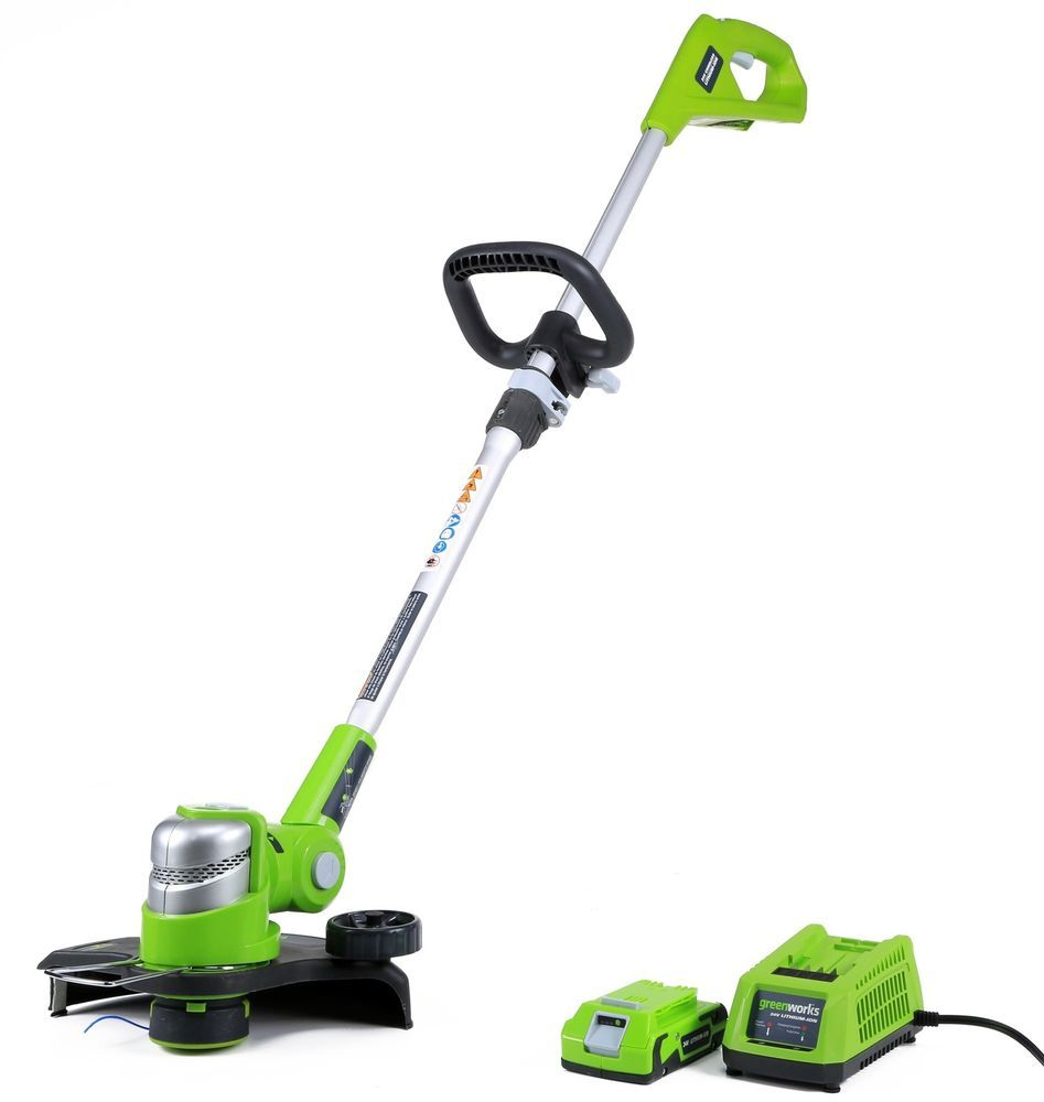Lawn Weed Eater 24v 12 Inch Yard Cordless String Trimmer W 2ah