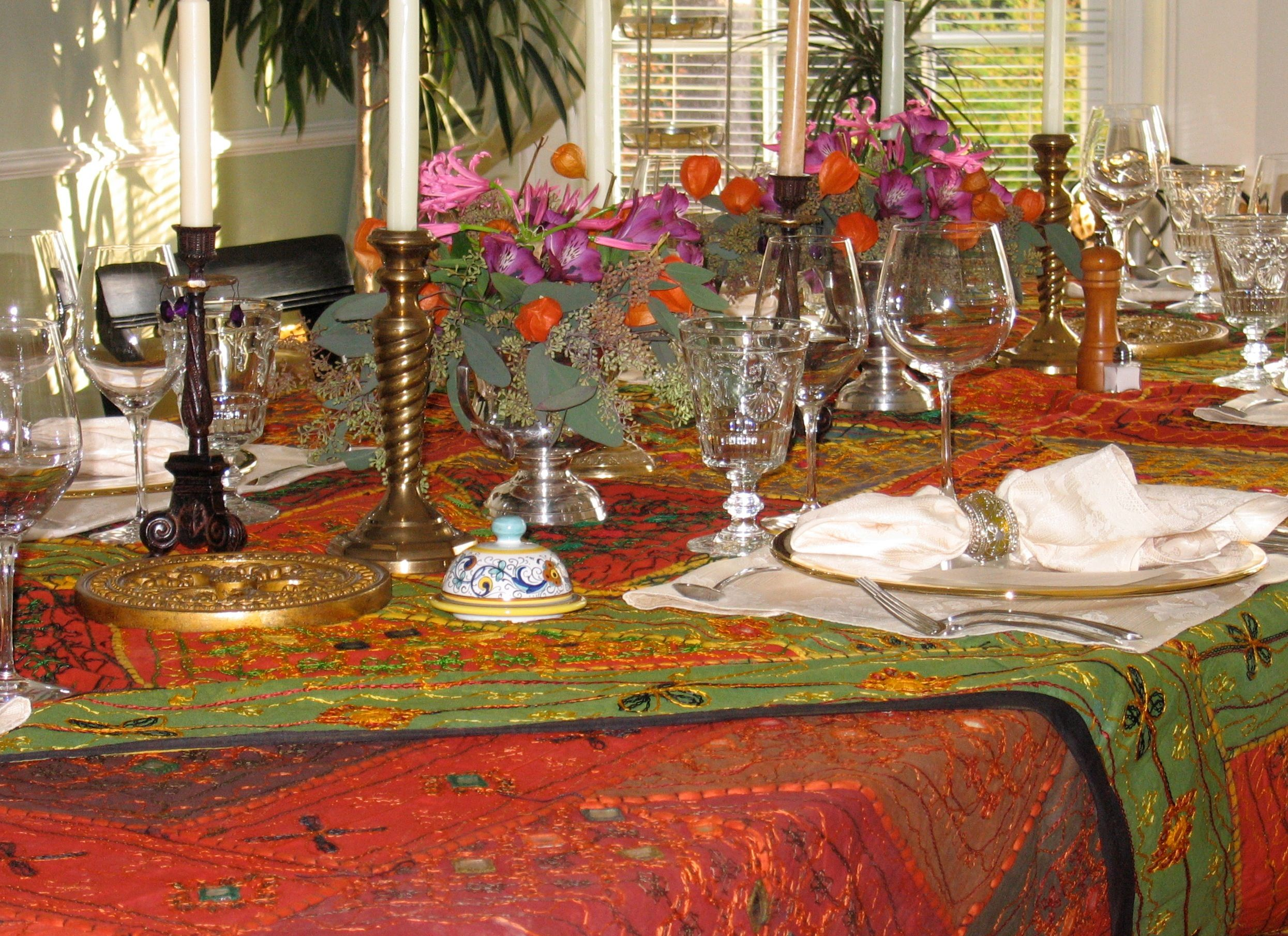 Dining Room Table Set Up For Intimate Moroccan Dinner Villa Marco Polo Inn