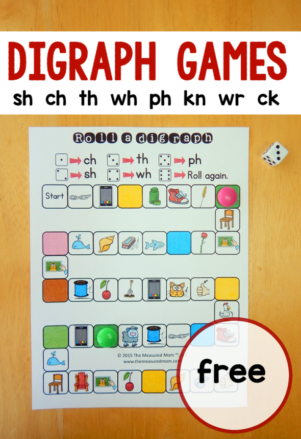5 free games for teaching digraphs | Best of The Measured Mom ...