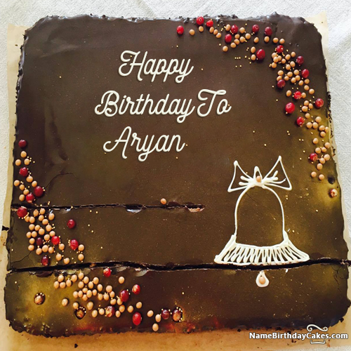 The Name Aryan Is Generated On Get Free Birthday Cake With Name