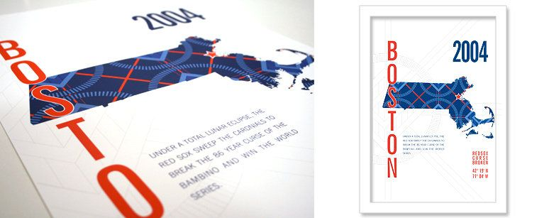 jhill design boston red sox map print. if i get my boss's boss for secret santa this year, i am totally getting him this.