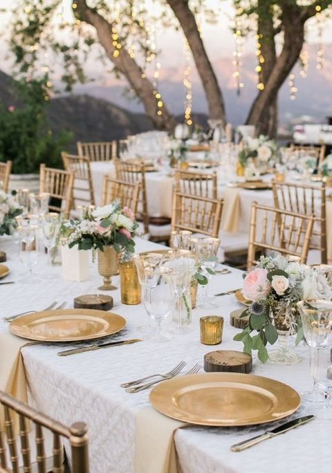 43 Glam Gold And White Wedding Ideas Wedding themes