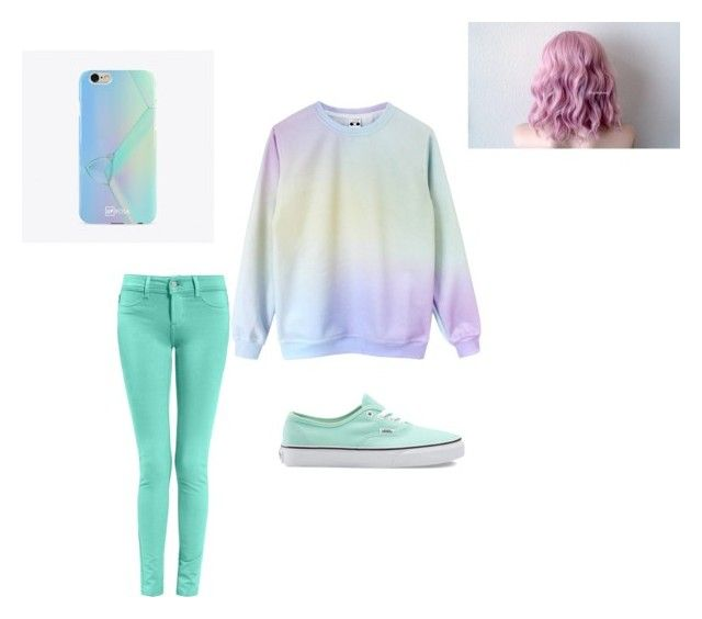 """Pastel"" by qweenunicorn on Polyvore featuring Vans and UPROSA"