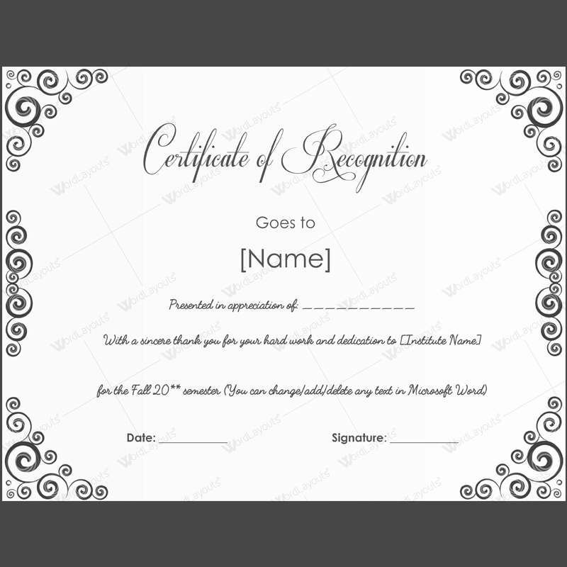 Printable award certificate template award certificate templates printable award certificate template yadclub Image collections