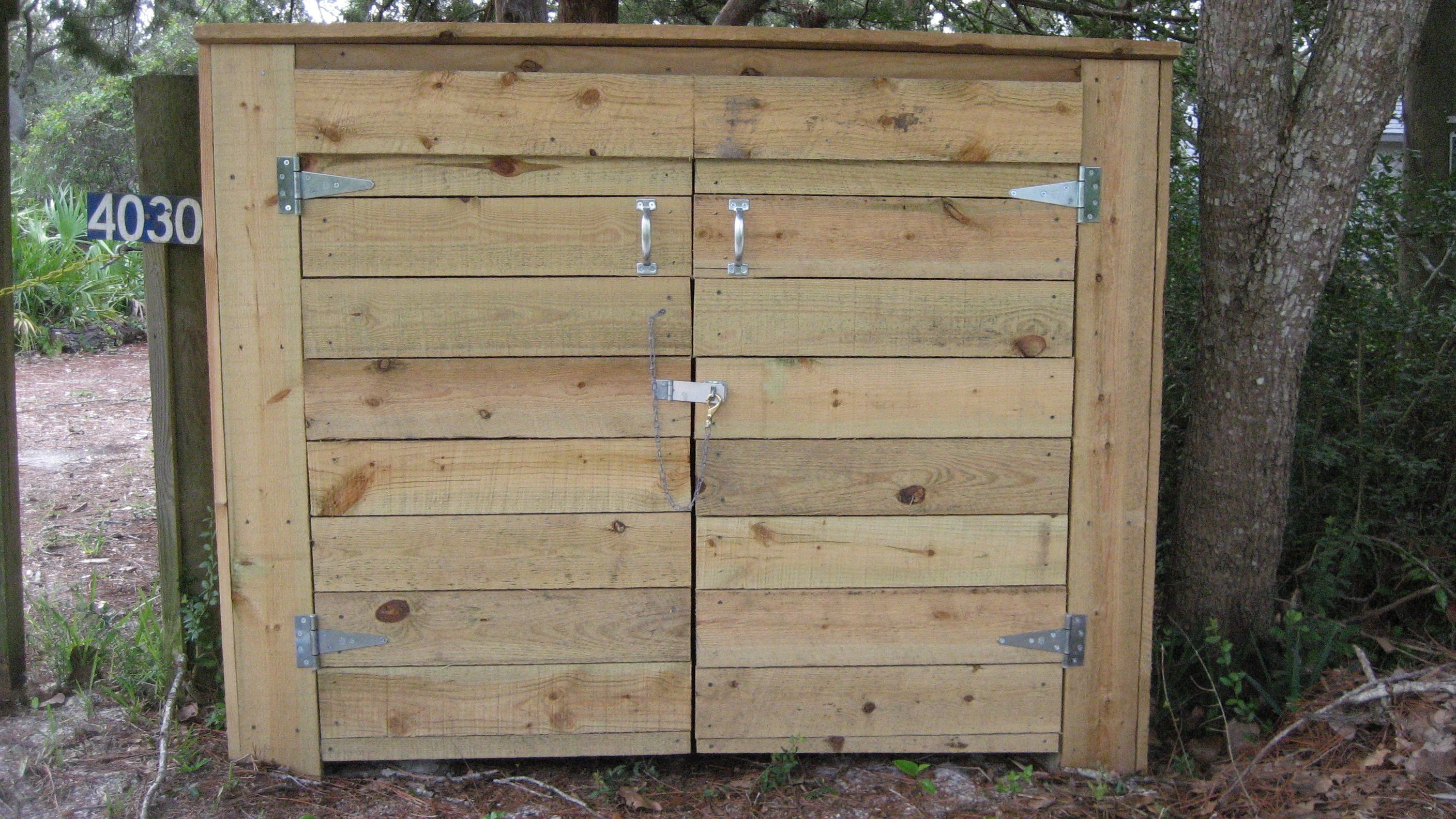 How to build a bear resistant shed for your garbage cans ...