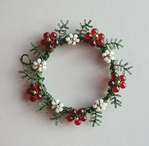 Christmas Wreath pendant (2\
