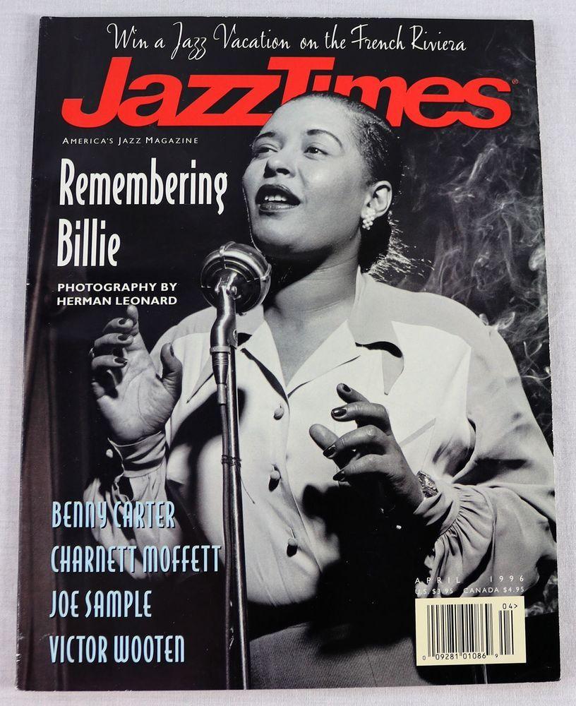 Jazz Times Music Magazine Billie Holiday April 1996 Benny Carter Joe