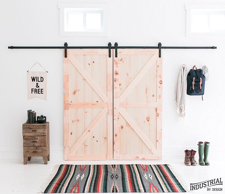 Amazon.com: Kit de instalación para puerta tipo granero, negro ...