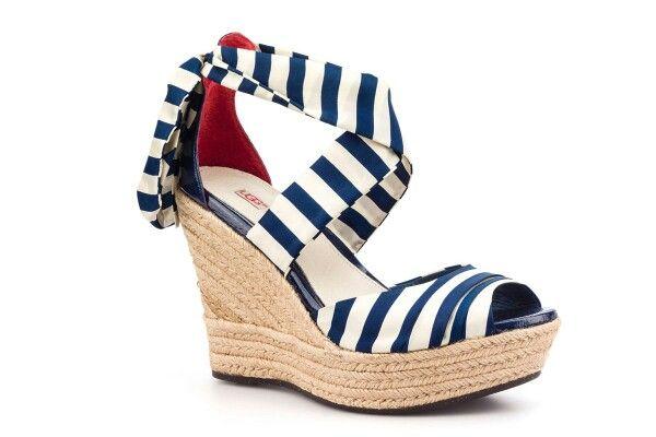 Ugg azulmarino espartos Australia cuñas shoes ugg marinero TqxaTS6w