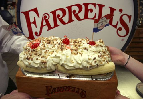 0fe32cfac Pig Trough banana split...Farrell s Ice Cream Parlour.