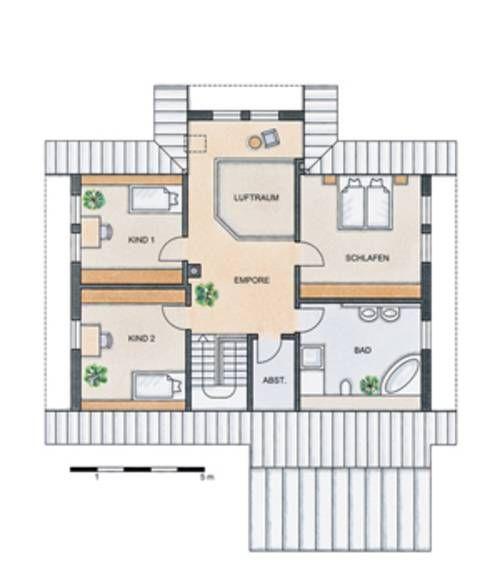 Grundriss dachgeschoss stommel haus wildrose haus for Grundriss kleines einfamilienhaus