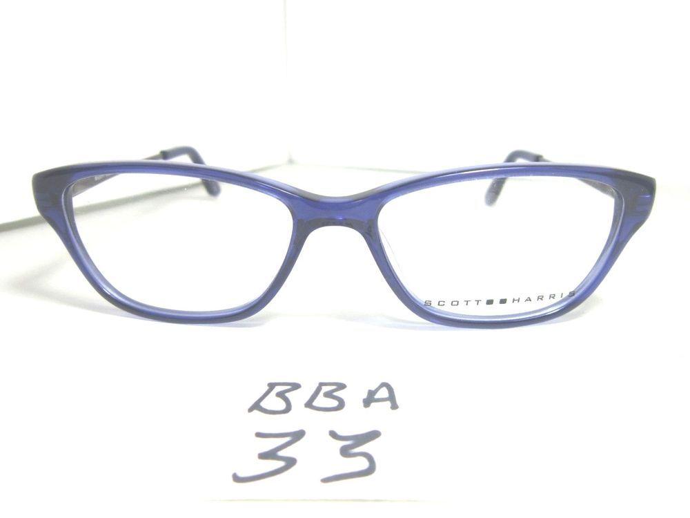 New SCOTT HARRIS Eyeglass Frame SH 317 C2 Blue Plastic & Metal ...