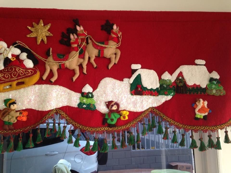 Cenefa navide a cortinas pinterest navidad - Cenefas para pared ...
