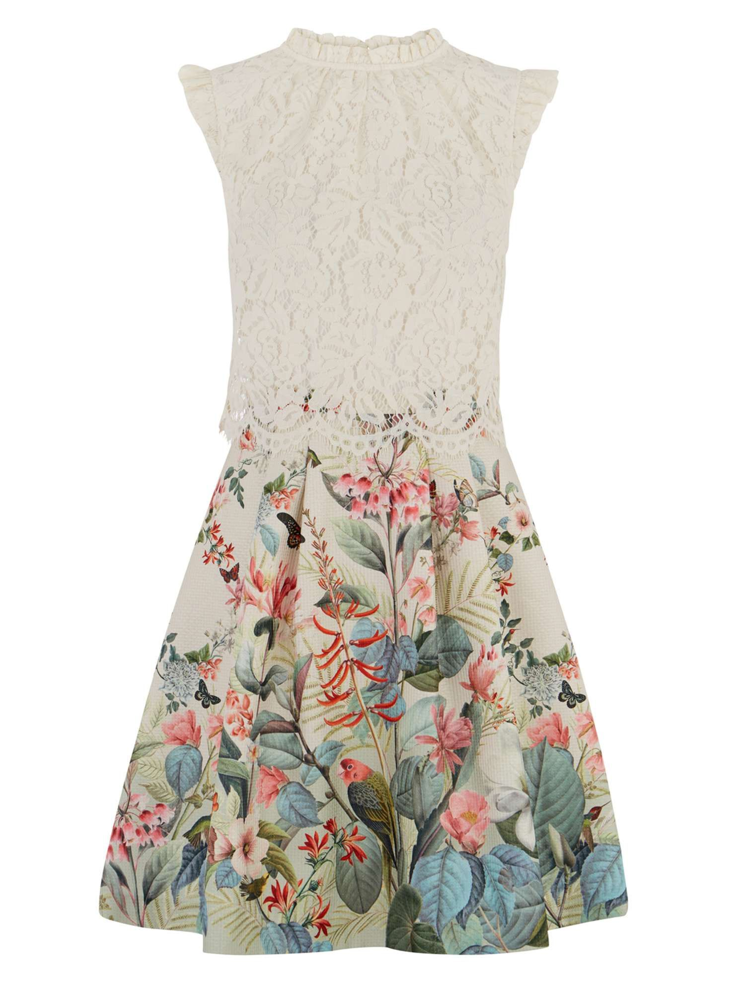 cf49e0c84f9 Oasis Fitzwilliam Lace Top Skater Dress - House of Fraser
