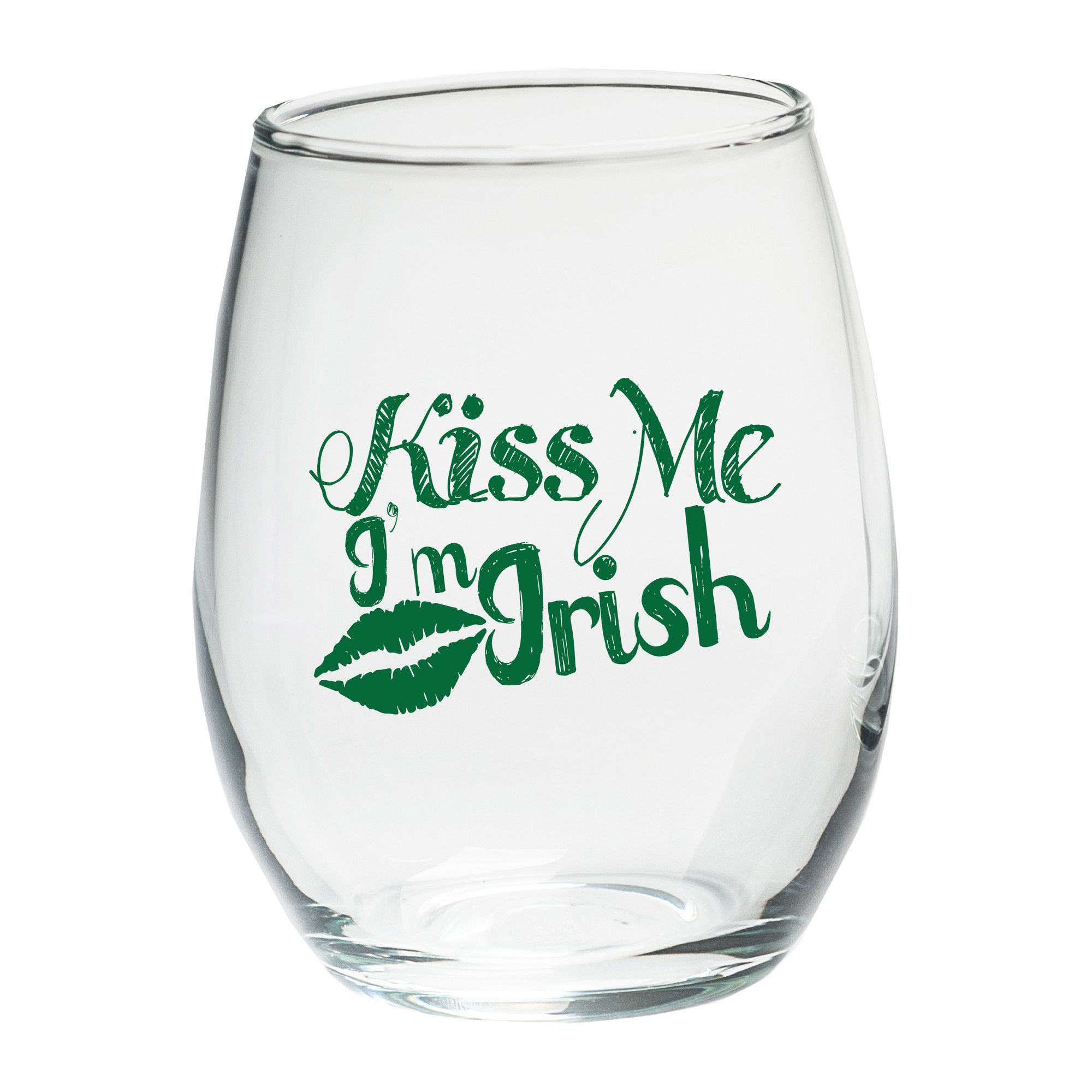 Features:  -Capacity: 15 oz.  Product Type: -Wine tumbler/Stemless wine glass.  Style: -Novelty.  Color: -Clear and green.  Primary Material: -Glass.  Glass/Crystal Component: -Yes.  Number of Glasses