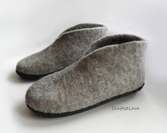 79f227c31175c Felted slippers Felt house slippers boots for womens Wool felted ...