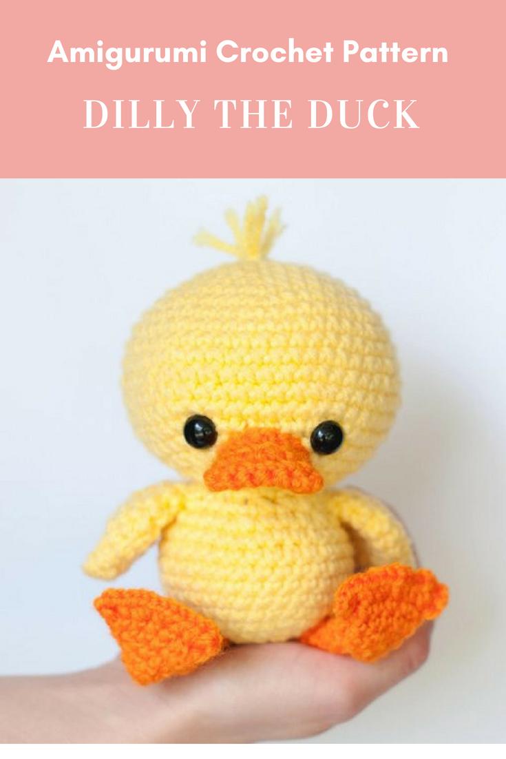 Pattern Dilly The Duck Crochet Duck Pattern Amigurumi Duckling